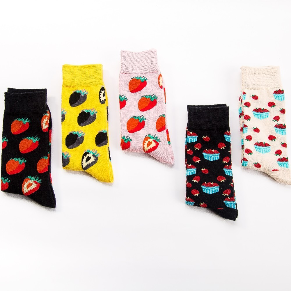 V-hanver Fashion Original Mens Socks Cotton Colorful Dress Happy Socks Novelty Animal Panda Patterned Harajuku Men Sock Gift Underwear & Sleepwears