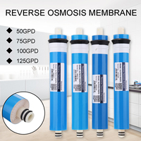 1 pçs 50/75/100/125gpd casa cozinha osmose reversa ro membrana substituição sistema de água filtro purificador água tratamento potável|Filtros de água| |  -