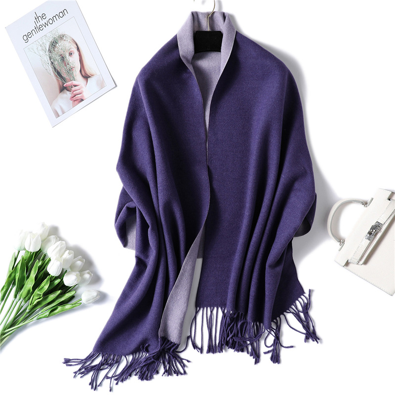 2019 winter scarf for women thick warm double side cashmere scarves lady shawls and wraps pashmina soft long size bandana
