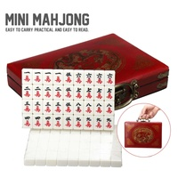 Multi color Portable Vintage Mahjong Top Quality Card Games 144 Tiles Mah Jong Set Rare Chinese Toy With Bamboo Box Party Gifts