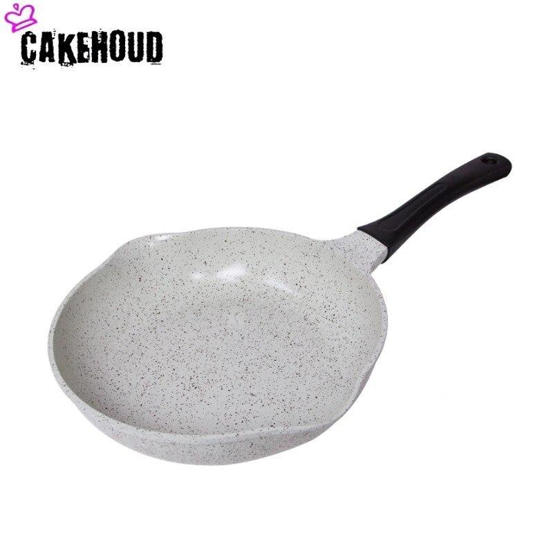 Poêle antiadhésive revêtue de céramique CAKEHOUD poêle à bois électrique résistante à la chaleur poêle à Steak poêle four et lave-vaisselle
