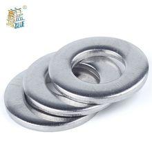 Rondelle plate en acier inoxydable 100, 5/10/304 pièces, M1.6 M2 M2.5 M3 M3.5 M4 M5 M6 M8, din 125 GB97