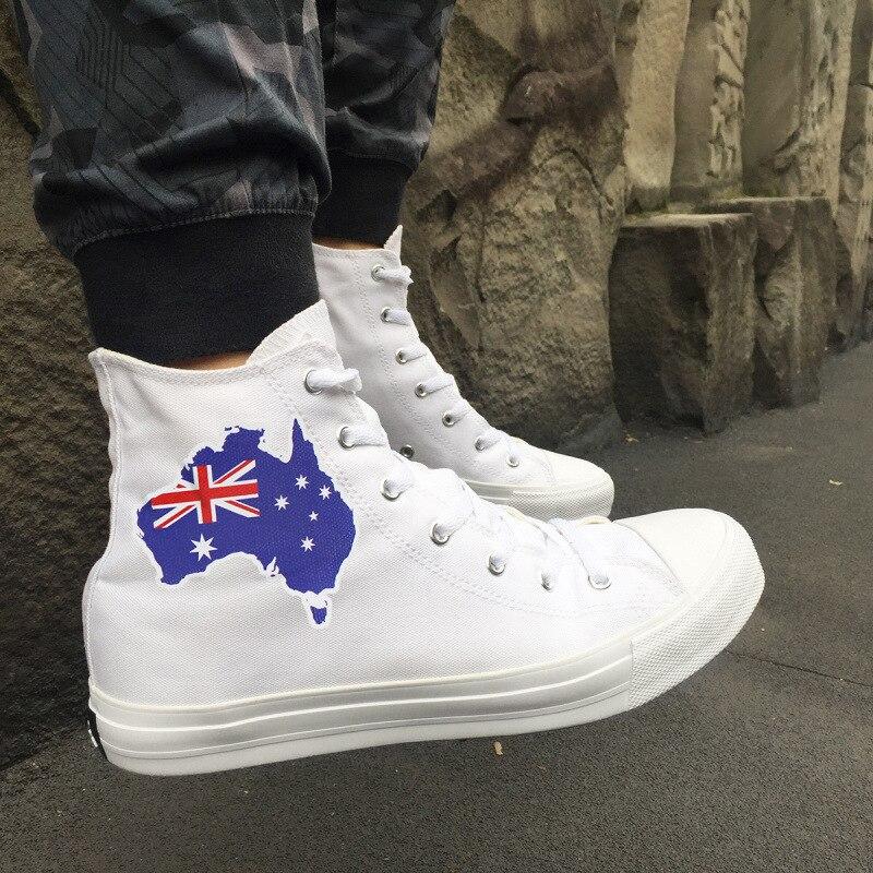 Студент Холст австралийский Национальный флаг трендовая обувь вентиляции школа ветер времени MAM