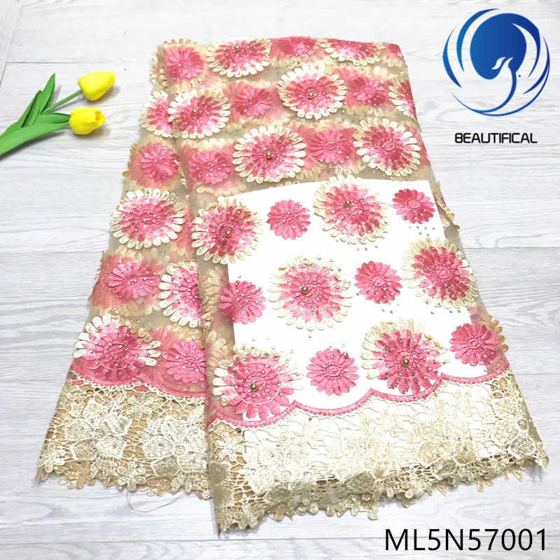 BEAUTIFICAL african tulle french lace crod lace beads 2019 nigeiran cord net lace fabric for dresses ML5N570BEAUTIFICAL african tulle french lace crod lace beads 2019 nigeiran cord net lace fabric for dresses ML5N570
