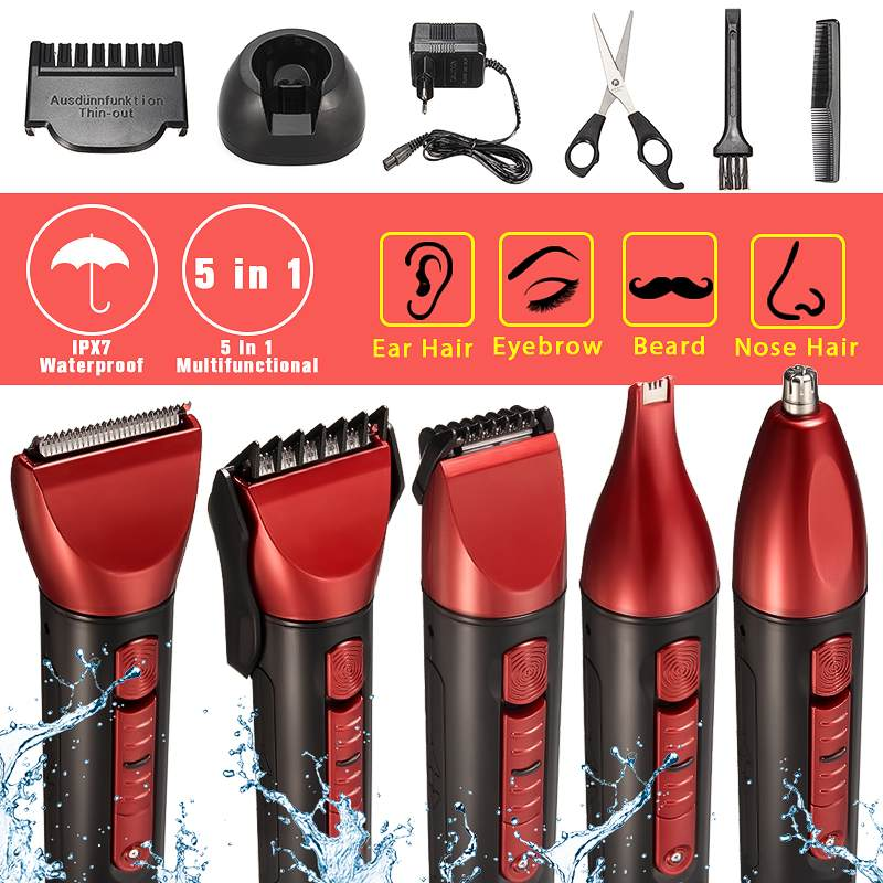 Electric Cordless Shaver Washable Rechargeable Nose Ear Eyebrow Beard Hair Clipper Trimmer Razor  Removal Men Shaving MachineElectric Cordless Shaver Washable Rechargeable Nose Ear Eyebrow Beard Hair Clipper Trimmer Razor  Removal Men Shaving Machine