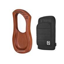 WH04/WH05/WH06 7-String деревянный Лира Арфы металлическими струнами из березы твердый лесенка из дерева и веревки инструмент с сумкой для переноски