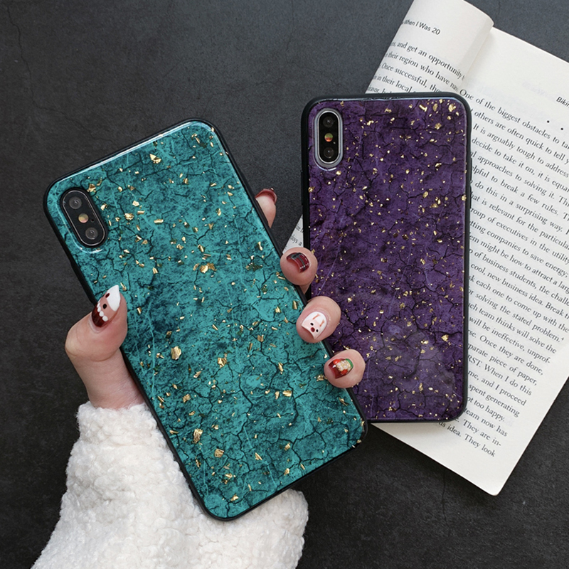 Luxury Gold Foil Bling Marble Phone Case redmi note 6 5 pro plus 6a s2 cover shell for xiaomi 6 6x 8 lite mix 2 2s max 3 coque image