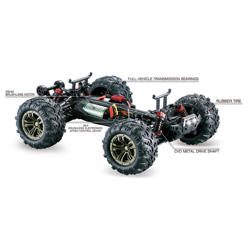1:16 Brushless Motor Four-wheel Drive High Speed RC Car Toy Remote Control Toy Cars For Boys Kids Gift