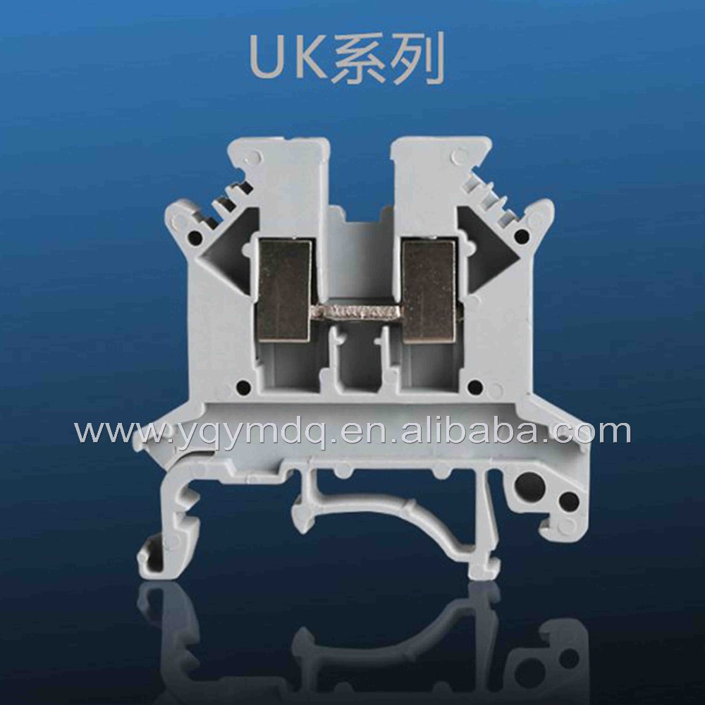 100 blocos de Terminais pçs/lote UK-2.5B universal trilho DIN lug placa de Fiação linha de conexão de cobre montado em trilho DIN