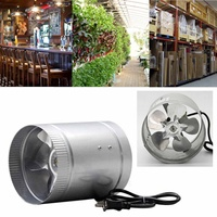 4'' 100CFM Air Duct Fan Low Noise Inline Booster Fan For Kitchen Bathroom , For Grow Room Ventilation 12W 2600RPM