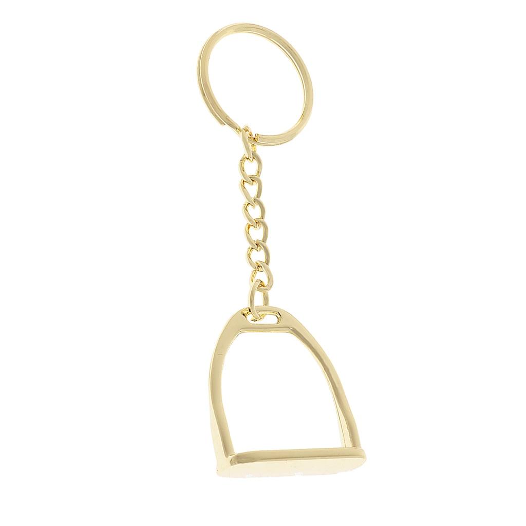 Silver Zinc Alloy Equestrian Keychain Horse  Decoration Key Ring 8cm