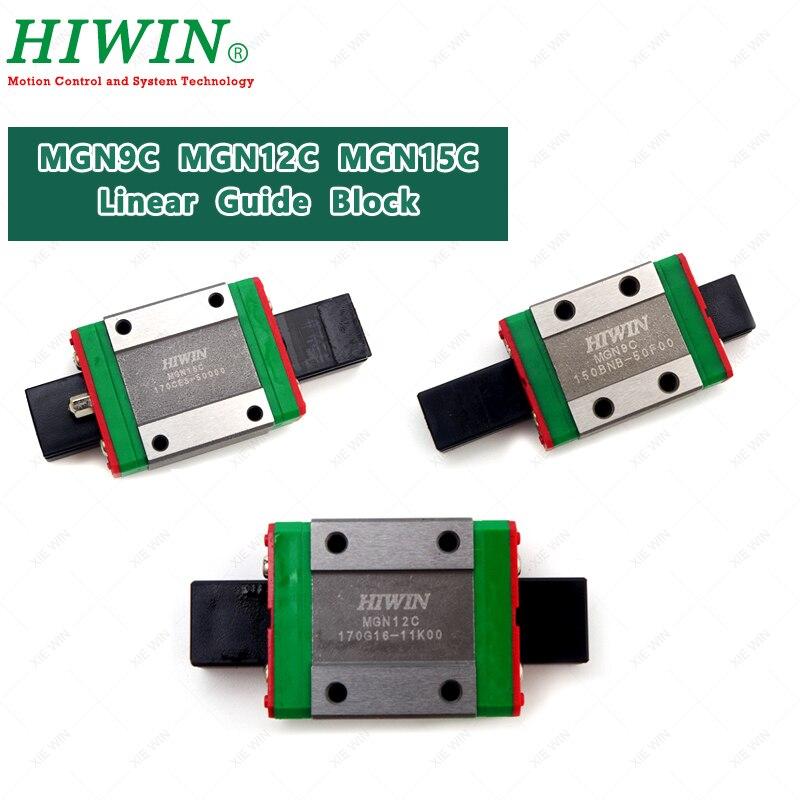 HIWIN MGN9C MGN12C MGN15C короткие перевозки Мини ползун MGN series 9 мм 12 мм 15 мм для 3D принтера