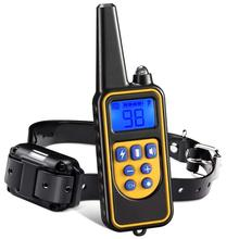 pet 800m Electric Dog Training Collar Pet Remote Control Waterproof Rechargeable with LCD Display for All Size Bark stop Collars
