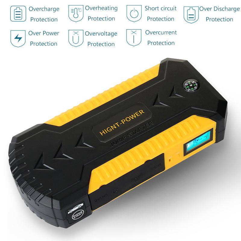 Démarreur de saut multifonction 89800 mAh 4USB 600A chargeur de batterie de voiture d'urgence Booster batterie externe dispositif de démarrage - 6