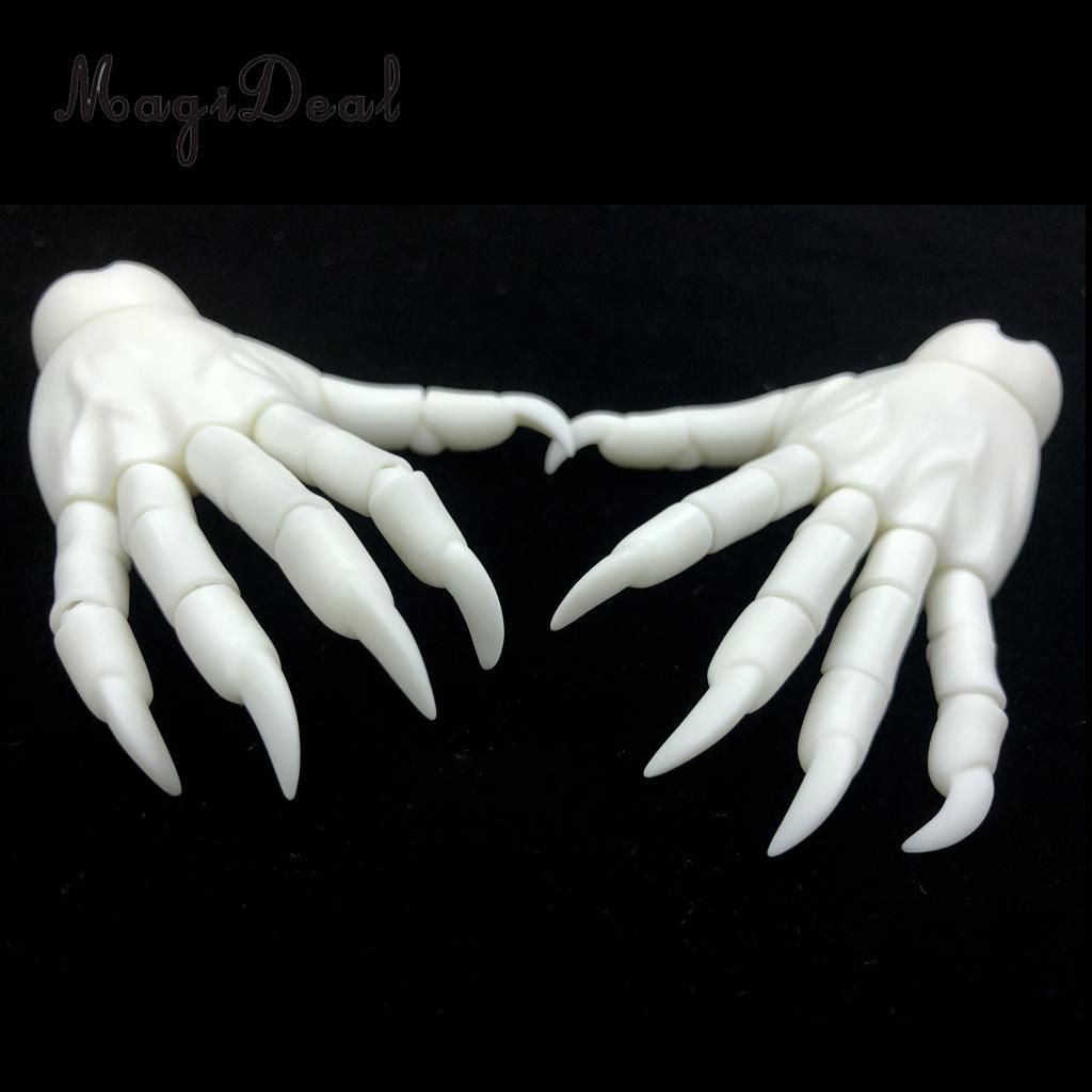 1/3 Jointed mains BJD unisexe mains monstre main modèle Halloween fête accessoires peau blanche