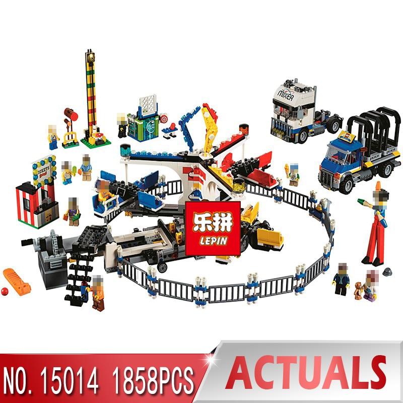 LEPIN 15014 Créateur D'experts FOIRE MÉLANGEUR Blocs de Construction 1858 pcs Briques Jouets Compatible avec Lego 10244 Chiffres Enfants Cadeau
