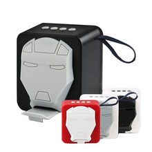 Mini Bluetooth Speaker Iron Man Mask portable Mobile phone stand speaker strong bass for iphone computer xiaomi Toys Loudspeaker portable bluetooth speaker iron man mask mini mobile phone stand speaker strong bass for iphone computer xiaomi toys loudspeaker