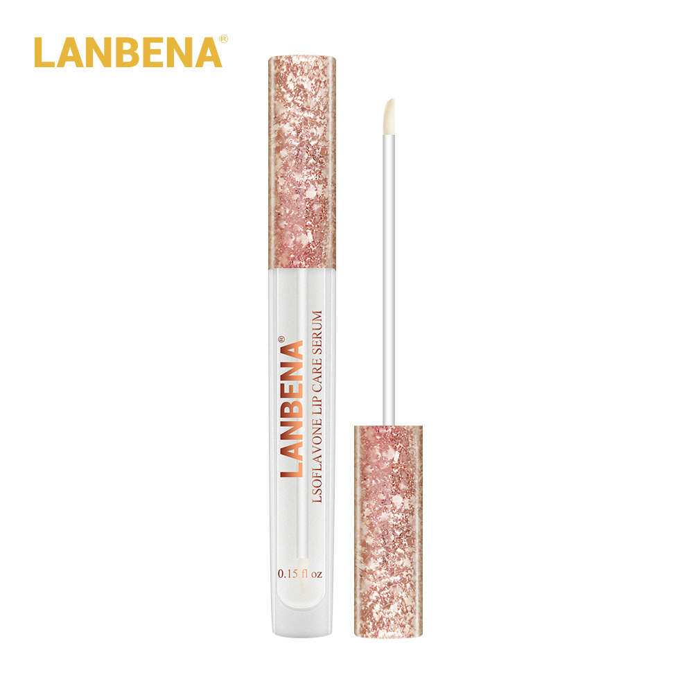 Lanbena Lsoflavone Lip Care Serum Lip Plumper Lip Mask Increase Lip Elasticity Reduce Fine Lines Repairing Moisturizing Beauty