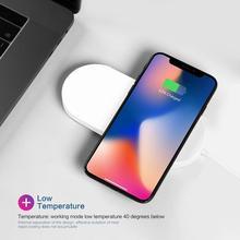 Veloce Caricatore Senza Fili Multi funzionale 2 in 1 di Alimentazione Dispositivi di Protezione Automatica Power off Per della vigilanza di Apple Samsung Serie