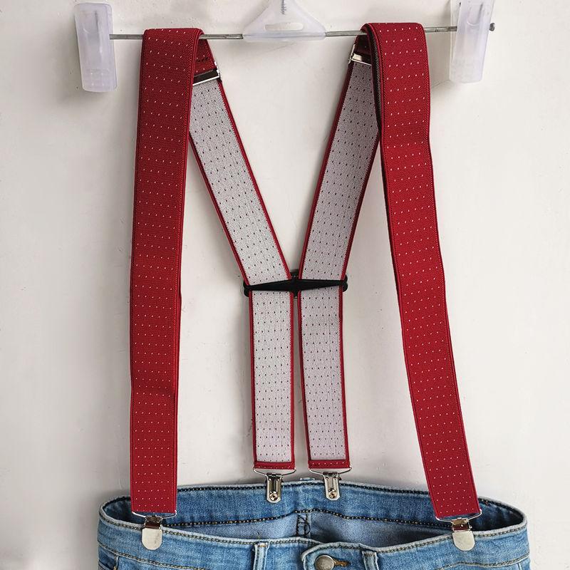 New Arrival H Shaped Dot Suspender Men Women Suspenders 3 Size Wedding Wear Match Shirt Brace Jujube Red BD066