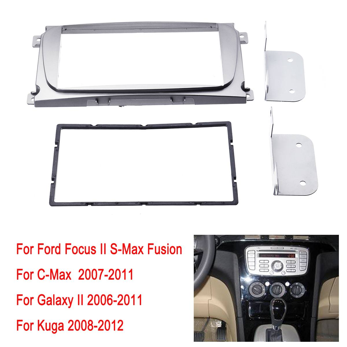 2 Din Car Radio Stereo Fascia Placa Painel Quadro Kit Para Ford Para A Focus Mondeo Ii S Max C Max Ii Galaxia Kuga
