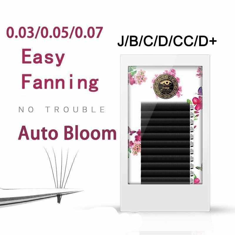 5163f93752d ZHIYOU 6/8 Cases Easy Fan Volume Mega Auto Bloom Grafting False Eyelashes  Extension Thick