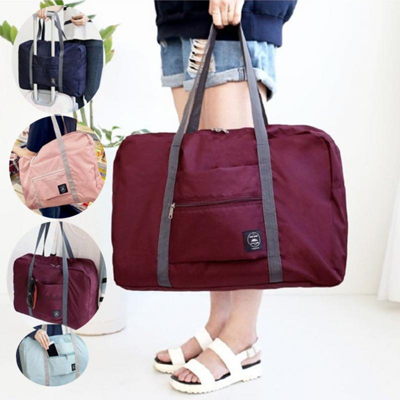 Waterproof Nylon Travel Bags Duffle Hand Luggage Large Capacity Folding Bag For Women Men Organizer Packing Weekend Bag #20