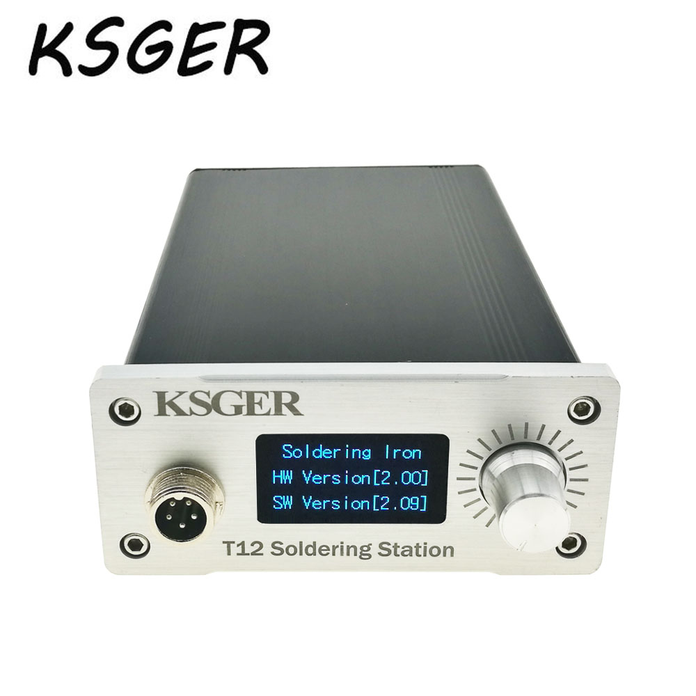 KSGER White Thick Panel STM32 OLED T12 Soldering Station Temperature Digital Controller For Hakko T12 Electric