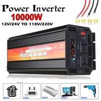 Инвертор 12 В 220 6000 Вт 10000 горох к мощность Инвертор трансформатор преобразователя Напряжения DC 12 В/24 к AC 110 В/220 инвертор солнечной установки