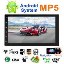 2 DIN универсальный G плеер для Android 8,1 16G памяти 7-дюймовый Сенсорный экран и пуговицы HD Автомобильный Bluetooth mp5 плеер