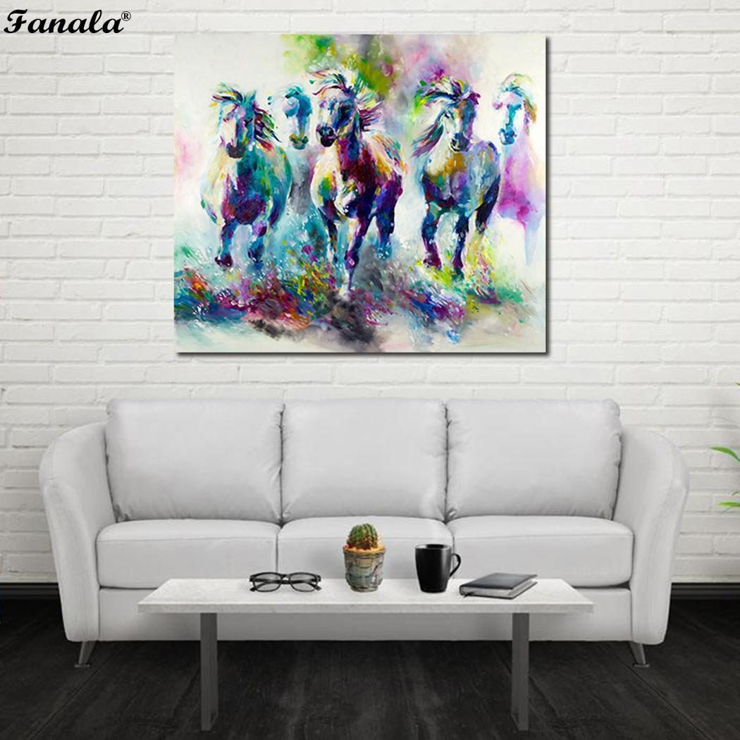 Modern Wall Art Animal Oil Painting Canvas Frameless Room As picture Decoration Decor