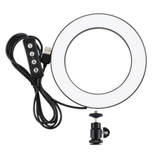 Puluz 6.2 Inch Usb 3 Modes Dimmable Photography Photographic Studio Ring Light Led Video Light & Cold Shoe Tripod Ball Head