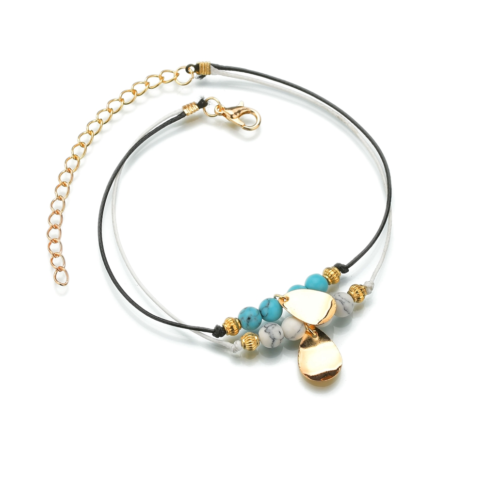 Anklets Ankle Bracelets Handmade Artificial Ceramic Small Bell Knit