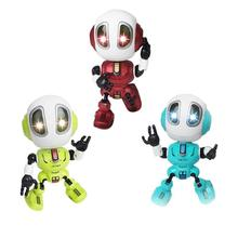 Kids Smart Q Robot Toy Head Touch Sensor Robot Toys Electronic Alloy LED Light S
