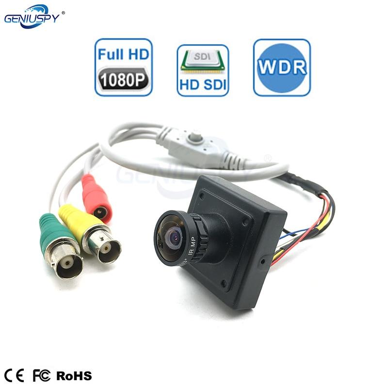 2MP 1/3 Panasonic capteur 2.1 MM 1.8 MM objectif grand Angle Full HD 1080 P Mini caméra SDI sécurité numérique caméra SDI avec Menu OSD