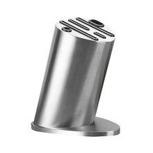 Knife Block Knives Holder Organizer Storage Premium Stainless Steel Rest Shelf Kitchen Tools Accessories