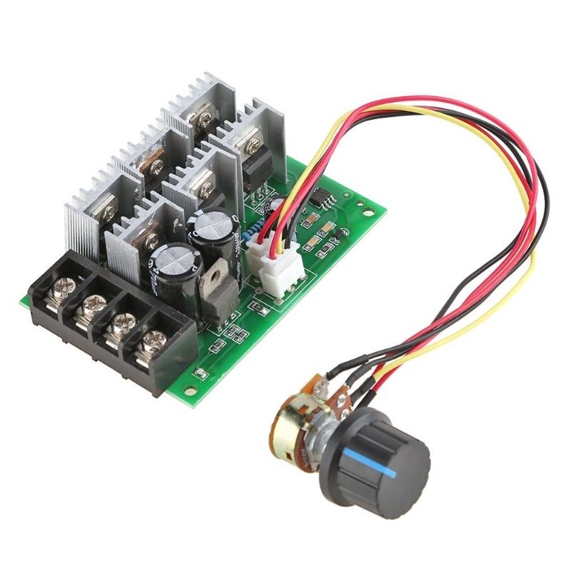 New 9V-55V 40A PWM DC Motor Speed Controller CW CCW Reversible Switch 12V 24V