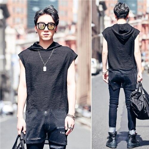 M-XL! Chemises sans manches personnalisées pour hommes