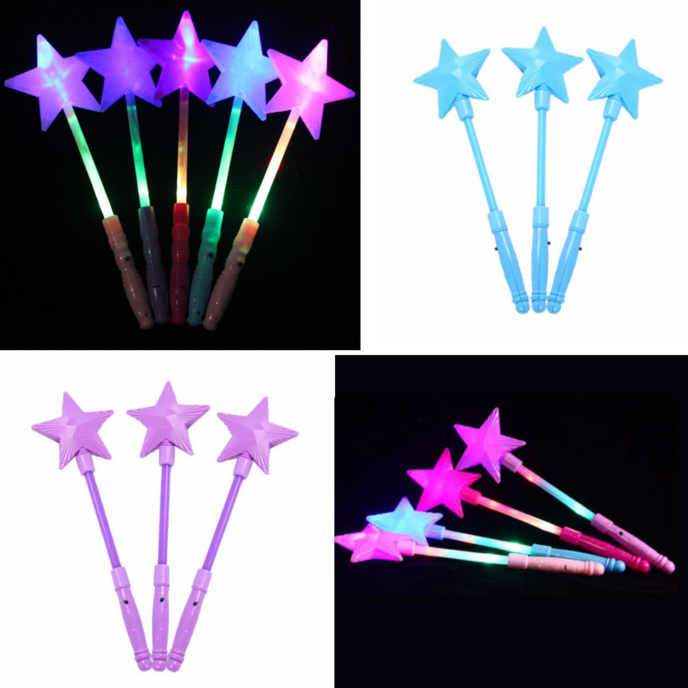Flashing Pentagram Children Light Stick Luminous Toys Multi Color LED Foam Glow