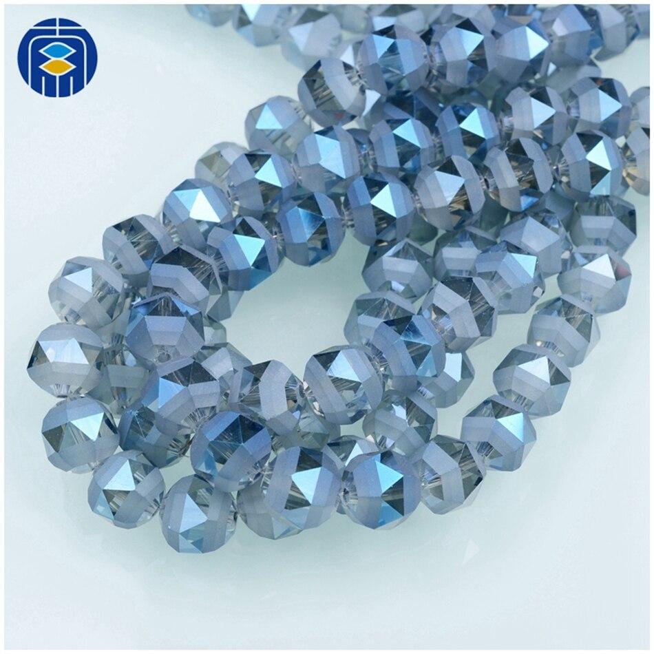 Matt Teal Round Glass Beads 8mm Pack of 10 A36//1