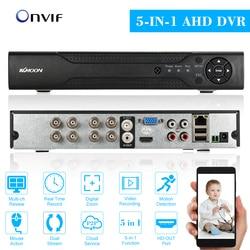 KKmoon 8CH 1080P Гибридный 5-в-1 цифровой видеорегистратор P2P облачная сеть Onvif цифровой видеорегистратор с поддержкой Plug and Play PTZ