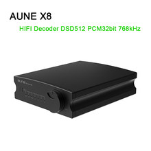 Décodeur Audio AUNE X8 HIFI DAC ES9038Q2M amplificateur DAC USB DSD512 Coaxial optique PCM32bit 768kHz(China)