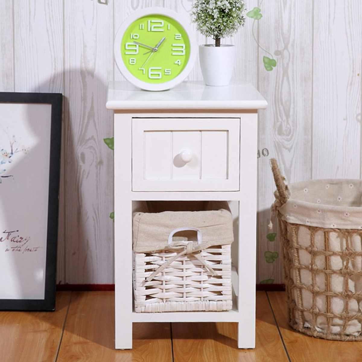 Fahion moderne en bois Tables de chevet armoire tiroirs chambre meubles maison dortoir stockage pastorale chevets 45X31X28 cm