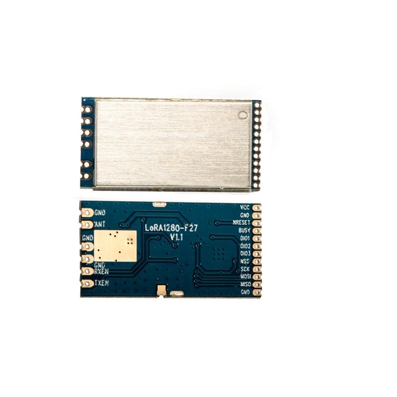 2pcs/lot LoRa1280F27 500mW Long Range 2.4G LoRa Module SX1280 Chip 27dBm 2.4GHz RF Wireless Transceiver With Range Measurement
