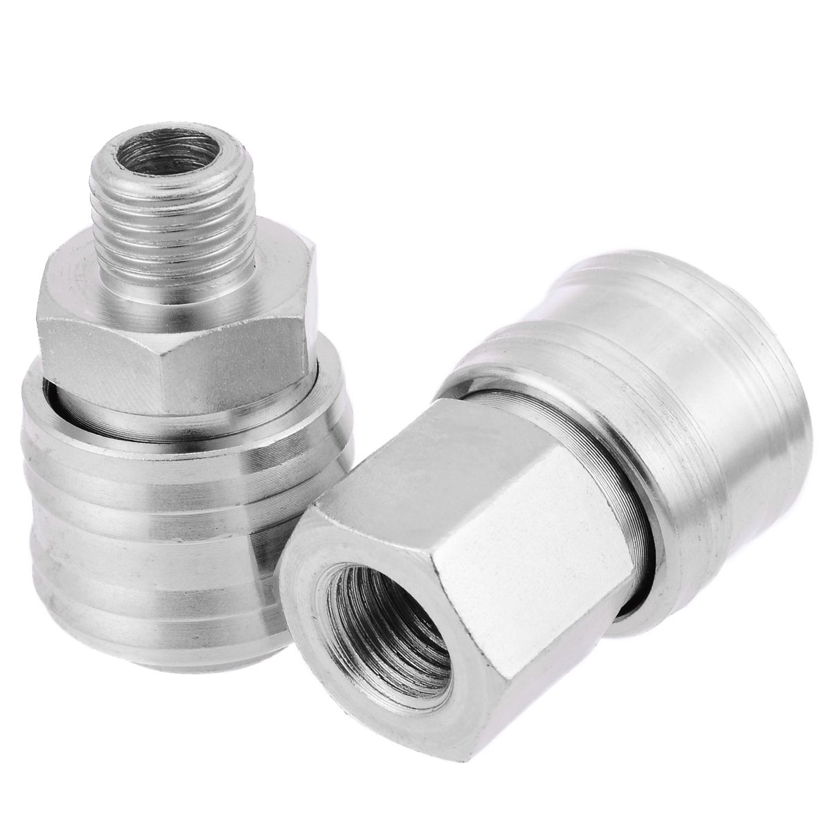 6pcs Euro Air Hose Compressor Fittings Connector Female/Male Quick Release 1/4 BSP Thread bsp female air compressor pneumatic quick coupler connector socket fittings set