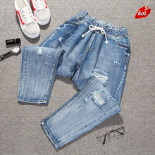 FRAME BEN Autumn High Waist Loose Denim Trousers Boyfriend Jeans Women Calf Length