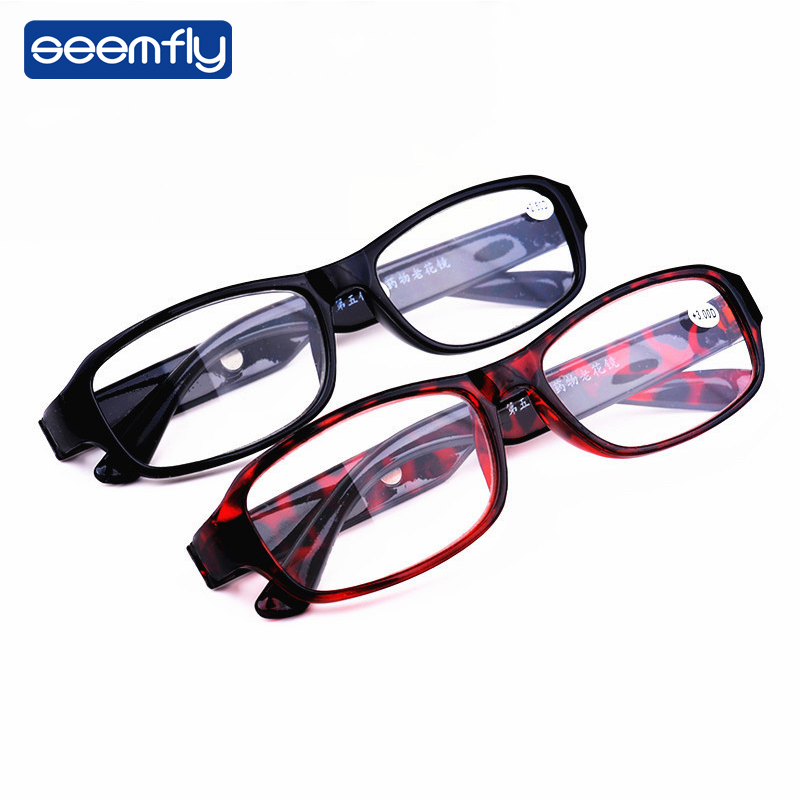 Seemfly High Presbyopic Magnetic Therapy Mirror Resin Magnifying Reading Glasses For Men Women Male Female Parents Elder