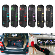 Golf Bag Travel with Wheels Large Capacity Storage Bag Practical Golf Aviation Bag Foldable Airplane Travelling Golf Bags & Lock pgm golf bag golf bag hard shell tug with cipher airbag