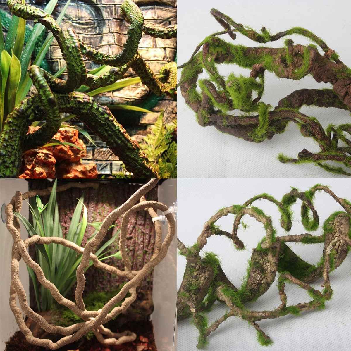 66cm Reptiles Vine Climber Jungle Forest Bendable Artificial Branch Terrarium Cage Decor Flexible Reptile Pet Supplies