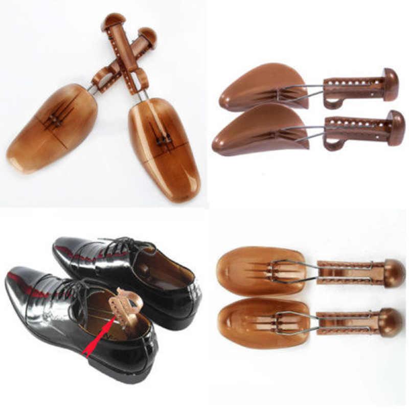 Novo estilo 2 pçs plástico ajustável maneira sapato maca manter a forma sapatos árvore homem/mulher